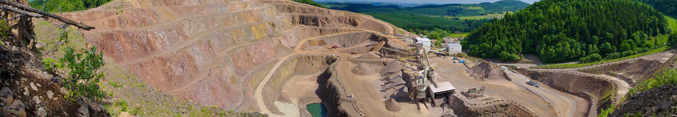 14887092 – big quarry under the blue sky